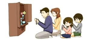 仏壇の拝み方
